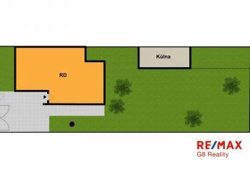 Orientrační situační plán - Prodej domu v osobním vlastnictví 102 m², Hradec Králové