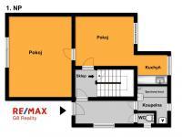 Orientrační půdorys 1. NP - Prodej domu v osobním vlastnictví 102 m², Hradec Králové