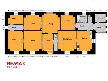 orientační půdorys - Prodej domu v osobním vlastnictví 214 m², Svojšice