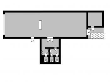 orientační půdorys - Pronájem obchodních prostor 206 m², Čáslav