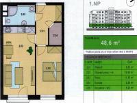 Pronájem bytu 2+kk v osobním vlastnictví 48 m², Poděbrady
