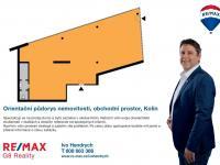 Orientační půdorys (Pronájem obchodních prostor 201 m², Kolín)