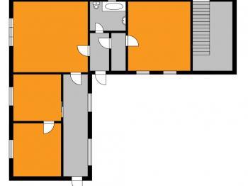 orientační půdorys - Prodej domu v osobním vlastnictví 100 m², Ronov nad Doubravou