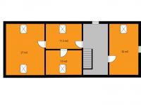 orientační půdorys podkroví - Prodej domu v osobním vlastnictví 155 m², Červené Janovice