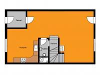 orientační půdorys přízemí - Prodej domu v osobním vlastnictví 125 m², Dobročovice