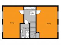 orientační půdorys 1. patro - Prodej domu v osobním vlastnictví 125 m², Dobročovice