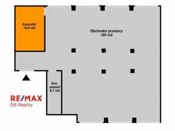 Pronájem obchodních prostor 222 m², Kutná Hora