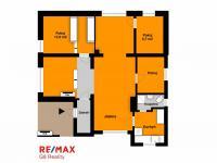 orientační půdorys - Prodej domu v osobním vlastnictví 105 m², Louňovice