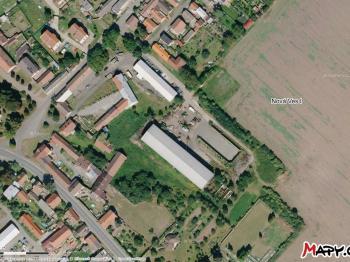 ní skladu, zdroj mapy.cz - Pronájem komerčního objektu 1062 m², Nová Ves I