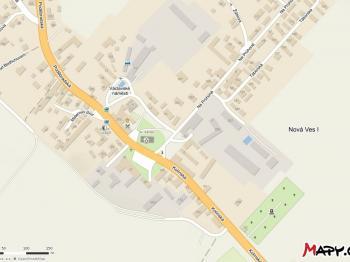 Lokalita, ní skladu, zdroj mapy.cz - Pronájem komerčního objektu 1062 m², Nová Ves I