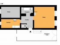Orientační půdorys přízemí - Prodej domu v osobním vlastnictví 73 m², Žiželice