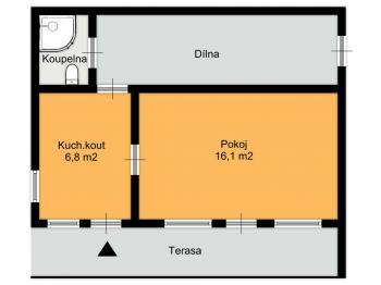 orientační půdorys - Prodej pozemku 500 m², Kolín