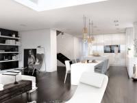 Dvoupodlažní loft (Prodej bytu 6+kk v osobním vlastnictví 232 m², Praha 5 - Smíchov)