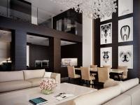 obývací pokoj (Prodej bytu 6+kk v osobním vlastnictví 232 m², Praha 5 - Smíchov)