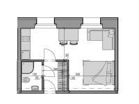 Prodej bytu 1+kk v osobním vlastnictví 24 m², Rokytnice nad Jizerou