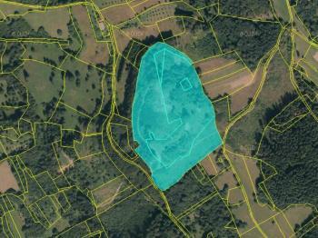 Prodej pozemku 94783 m², Huslenky