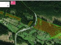 Celkový pohled na pozemky  (Prodej chaty / chalupy 134 m², Staré Hamry)