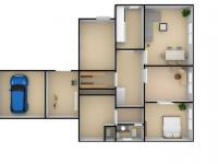 Půdorys přízemí domu - Prodej domu v osobním vlastnictví 585 m², Lešná