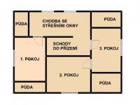 2. podlaží (Prodej domu v osobním vlastnictví 500 m², Halenkov)