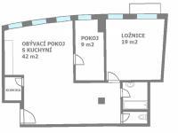 Pronájem bytu 3+kk v osobním vlastnictví 83 m², Praha 10 - Vršovice