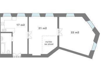 Pronájem bytu 2+1 v osobním vlastnictví 66 m², Praha 5 - Smíchov