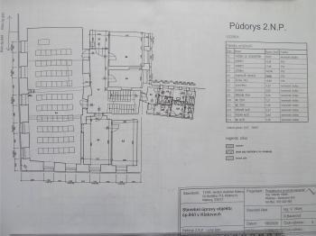 Půdorys 2NP - Pronájem komerčního objektu 20 m², Klatovy