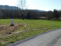 Pohled na parcelu (Prodej pozemku 2186 m², Čachrov)