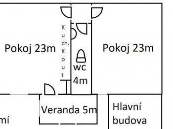 plán přízemí - Prodej domu v osobním vlastnictví 105 m², Plzeň
