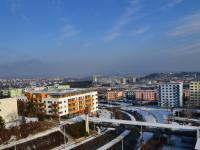 výhled z lodžie (Prodej bytu 2+kk v osobním vlastnictví 56 m², Brno)