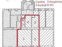 půdorys (Pronájem bytu 2+1 v osobním vlastnictví 62 m², Brno)