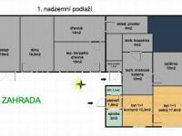 Půdorys 1.np. (Prodej domu v osobním vlastnictví 286 m², Babice nad Svitavou)