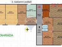 Půdorys 2.np. (Prodej domu v osobním vlastnictví 286 m², Babice nad Svitavou)