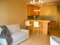 Prostorná obytná místnost s kuchyňským koutem (Prodej bytu 1+kk v osobním vlastnictví 32 m², Praha 9 - Vysočany)
