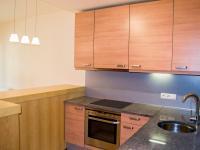 Kuchyňský kout oddělený jídelním koutem (Prodej bytu 1+kk v osobním vlastnictví 32 m², Praha 9 - Vysočany)
