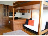 Ložnice, obývací pokoj i pracovna (Pronájem bytu 1+1 v osobním vlastnictví 35 m², Brno)
