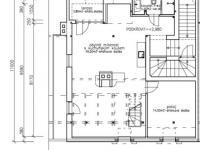 Půdorys přízemí (Pronájem bytu 3+kk v osobním vlastnictví 140 m², Kovalovice)