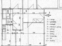 půdorys (Prodej bytu 4+1 v osobním vlastnictví 86 m², Brno)