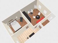 Možná vizualizace podkrovního pokoje - Prodej domu v osobním vlastnictví 100 m², Kroměříž