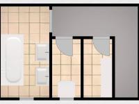 Suterén půdorys + vizualizace - Prodej domu v osobním vlastnictví 100 m², Kroměříž