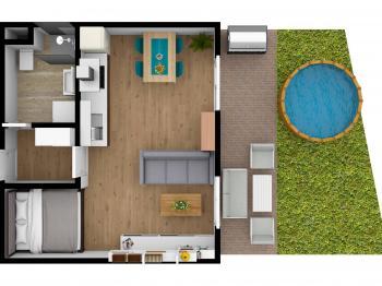 Prodej bytu 1+kk v osobním vlastnictví 67 m², Břeclav