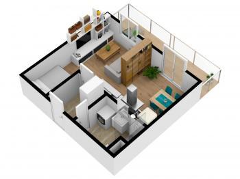 Prodej bytu 1+kk v osobním vlastnictví 43 m², Břeclav