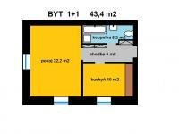 Prodej bytu 1+1 v osobním vlastnictví 44 m², Červené Pečky