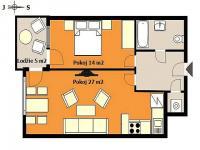 Pronájem bytu 2+kk v osobním vlastnictví 55 m², Praha 9 - Hloubětín