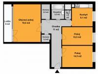 Prodej bytu 3+1 v osobním vlastnictví 80 m², Praha 9 - Letňany