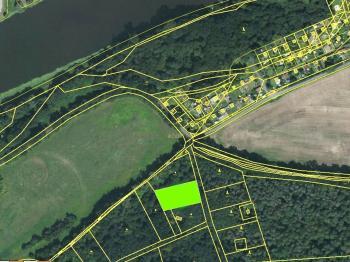 Označení parcely na katastrální mapě, zdroj:www.cuzk.cz - Prodej pozemku 1817 m², Nymburk