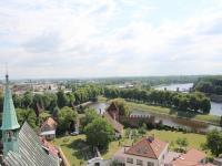 pohled kostelní věž - Prodej bytu 2+kk v osobním vlastnictví 37 m², Nymburk