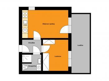 Prodej bytu 2+kk v družstevním vlastnictví 44 m², Městec Králové