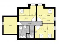 PŮDORYS 1. PATRO - Prodej domu v osobním vlastnictví 140 m², Hradištko