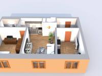 půdorys (Pronájem bytu 3+kk v osobním vlastnictví 62 m², Ostrava)