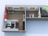 půdorys (Pronájem bytu 2+kk v osobním vlastnictví 60 m², Ostrava)